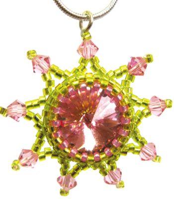 Starburst Pendant - Pink Zest