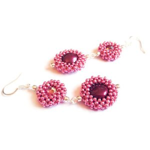 Geometric Explosion Earrings pattern