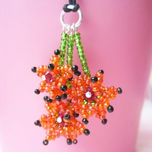 Beaded Flower Pendant pattern