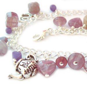 Charm bracelet - purple
