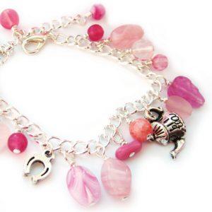 Charm bracelet kit - pink