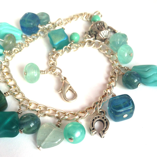 Charm bracelet kit turquoise