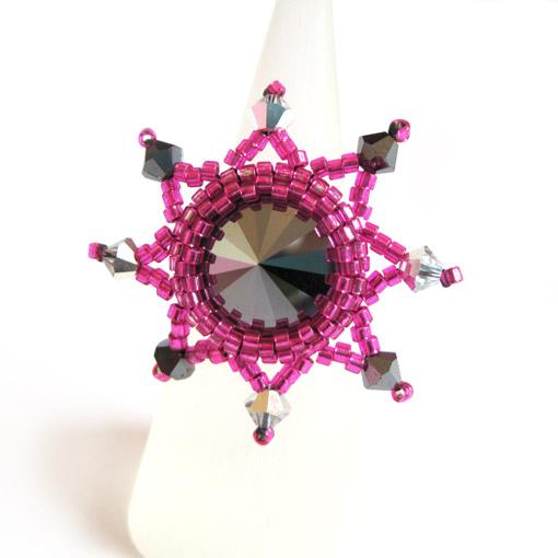 Starburst ring - Pink
