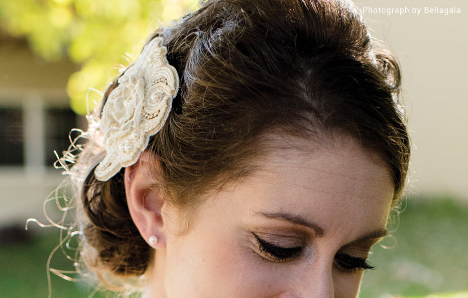 Bead embroidered hair comb