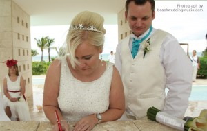 Kirsten's tropical beach wedding - Crystal tiara