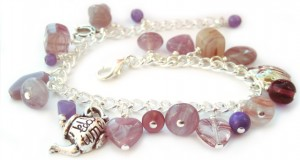 Charm bracelet kit - purple