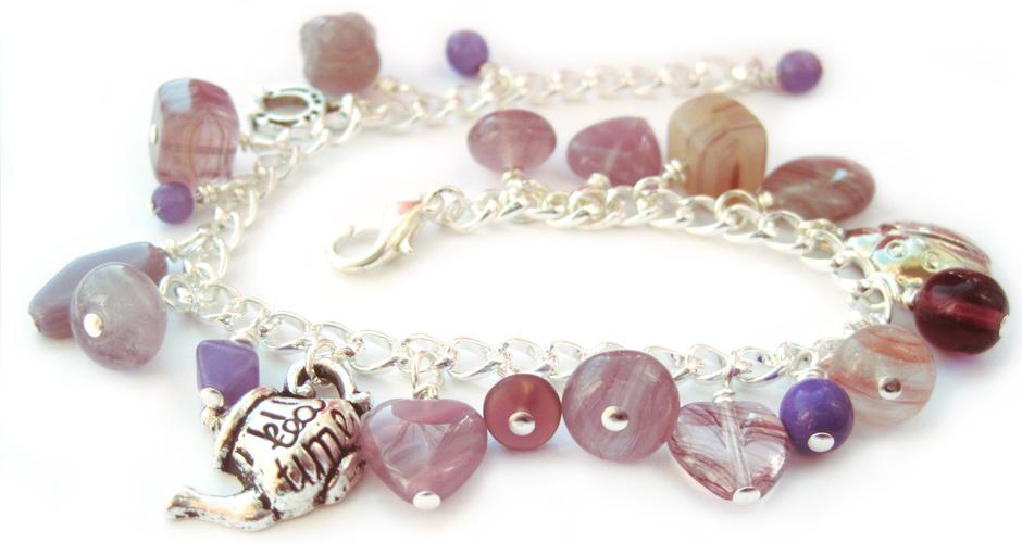 Charm bracelet kit - purple