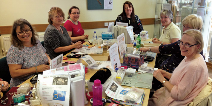 Tiaras and fascinators workshop at Stitchncraft Beads