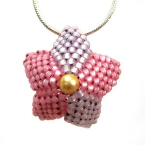 Powder Puff Necklace front view