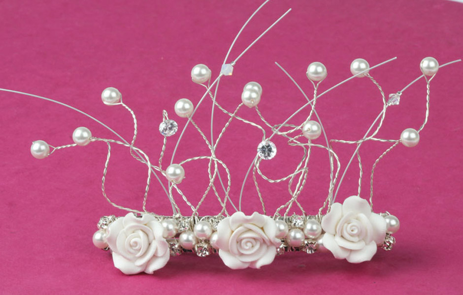 Chrissie's Wedding - hair clip