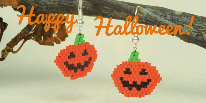 Free pumpkin earring pattern
