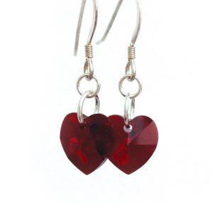 earrings-heart-garnet