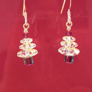 Swarovski Crystal Handmade Christmas Tree earrings