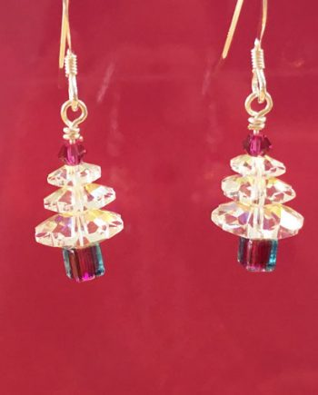 Swarovski Crystal Handmade Christmas Tree earrings