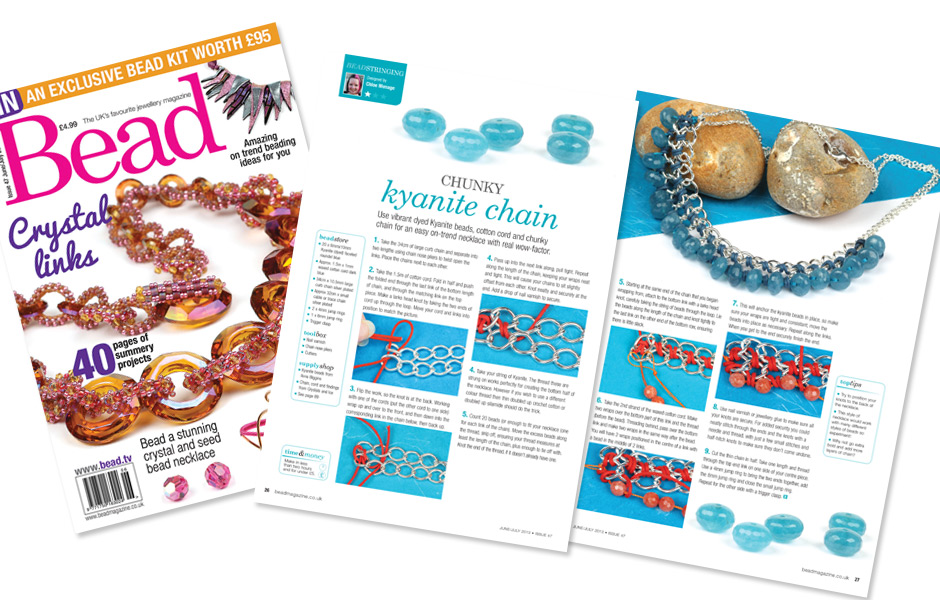 Bead magazine Issue 47 - Chunky kyanite chain