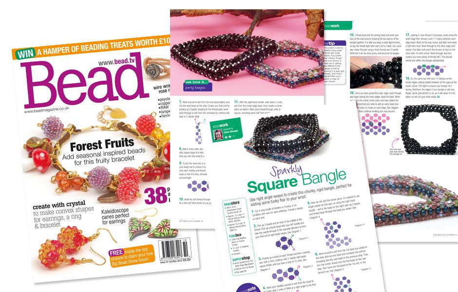Bead magazine Issue 43 - Square Bangle