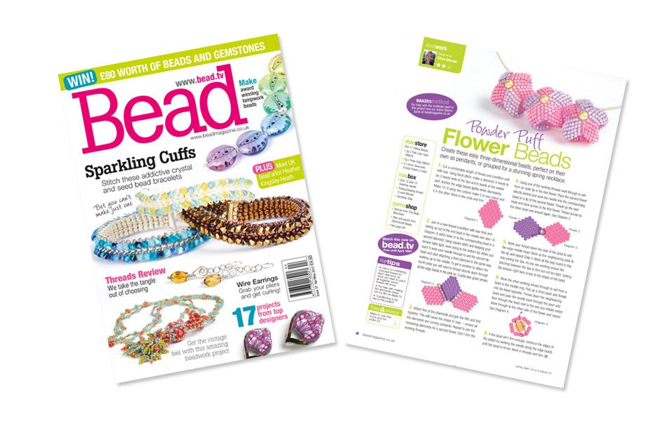 Bead magazine Issue 37 - Powder Puff Flower Beads