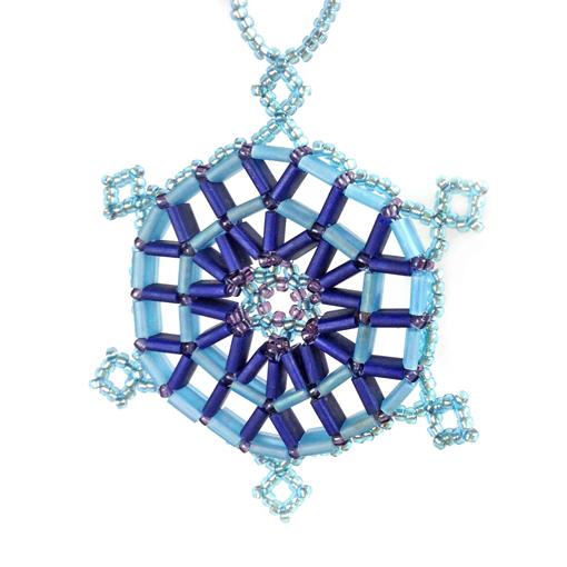 Tila Snowflake pattern - blue