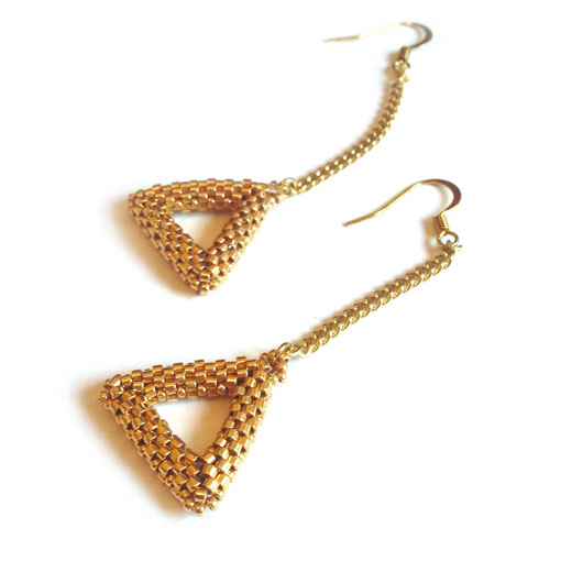 Emily Triangles earring pattern