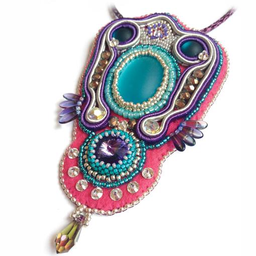 Sari Pendant Workshop purple