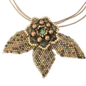 Autumn Leaves Necklace workshop at Stitchncraft Beads
