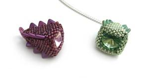 Helen and Maureen's Stegosaurus Pendants