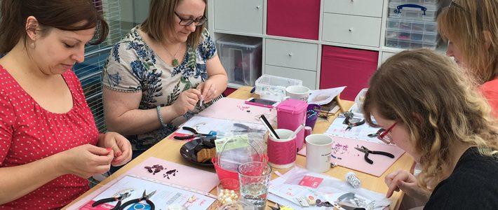 Tiara making workshop in Hampshire