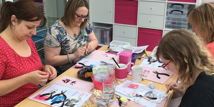 Tiara making workshop in Hampshire