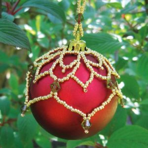 Leafy Christmas Bauble pattern