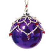 Leafy Bauble Christmas Ornament beading pattern by Chloe Menage