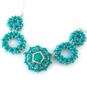 Kajagoogoo SuperDuo beading workshop with Chloe Menage - Kit sample in turquoise