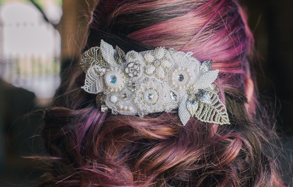Beaded wedding jewellery by Pinkhot - photography by Laura Mott