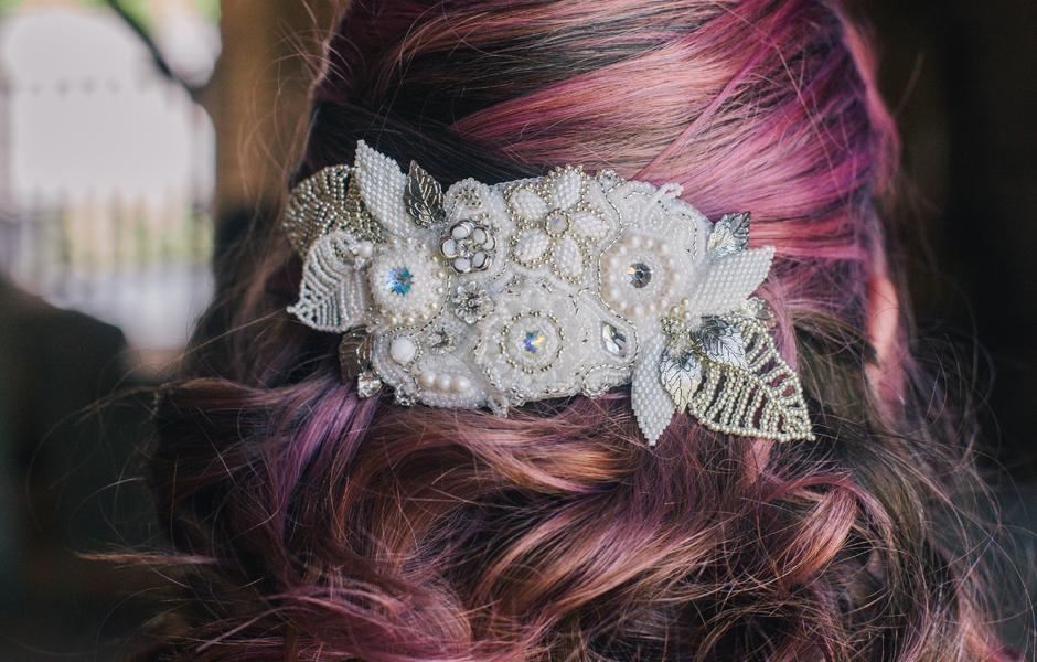 Beaded wedding jewellery - photography by Laura Mott