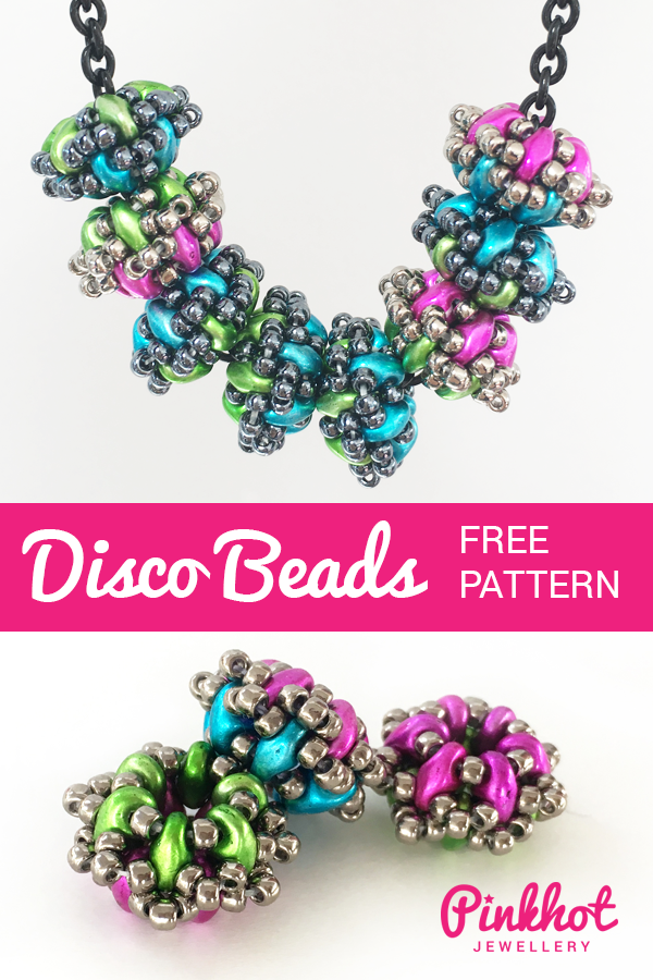 Disco Beads by Chloe Menage - Make it Here FREE beading pattern