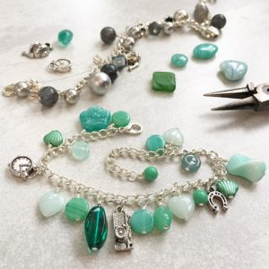 Beaded charm bracelet workshop with Chloe Menage
