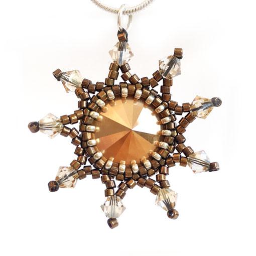Handmade Starburst Pendant in Bronze