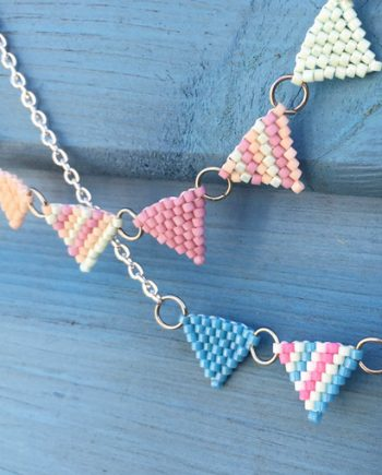 Beaded bunting workshop with Chloe Menage at Ashcroft Arts Centre
