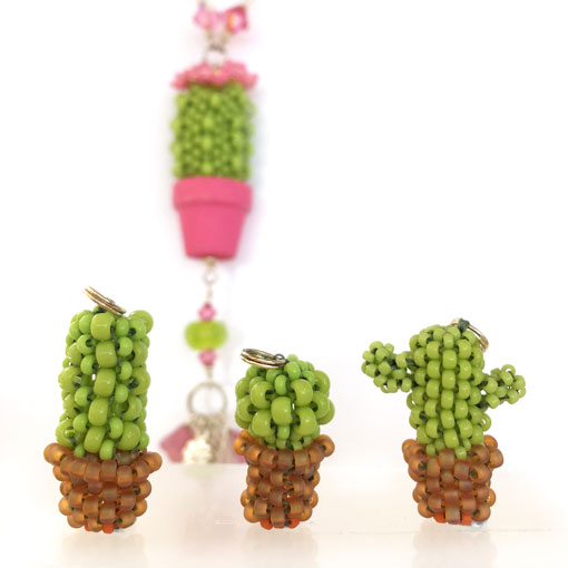 Kawaii Cacti Beading Project