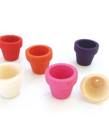 Mini cacti wooden pots