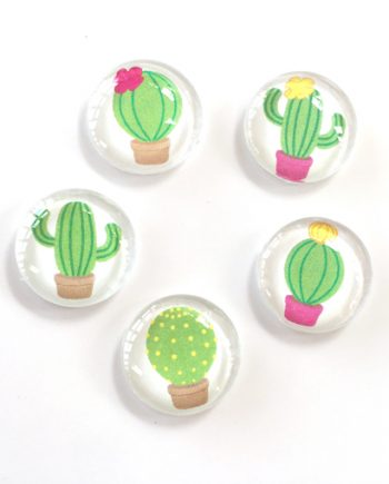 16mm handmade cacti cabochons for beading
