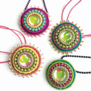 Cacti Fiesta bead embroidered pendants tutorial
