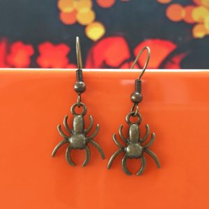 Handmade spooky spider halloween earrings - by Chloe Menage