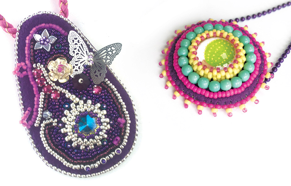 Bead embroidery basics workshop with Chloe Menage