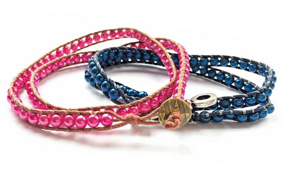 Beaded wrap bracelet workshop with Chloe Menage