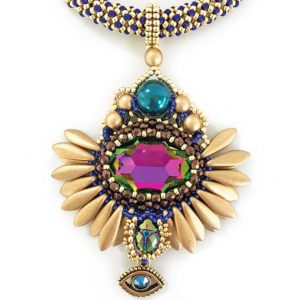 Khepri Necklace beading workshop with Chloe Menage