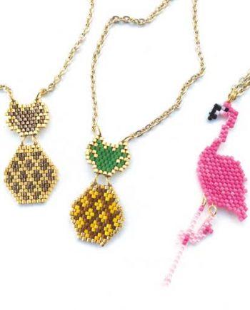 Americana Tropicana brick stitch beading pattern