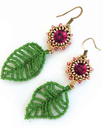 May's Filigree Beaded leaves project tutorial by Chloe Menage