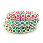 Pop Bangles beading pattern by Chloe Menage