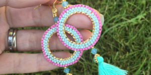 Boho Bursts beading project by Chloe Menage with Jill Wiseman