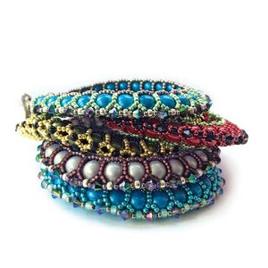 Celebration Bangles beading pattern by Chloe Menage